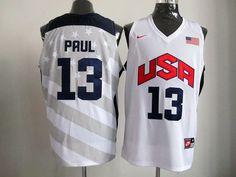 2012 USA Basketball #12 Paul White Jerseys