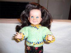 Vintage Freckle Faced Blue Sleepy Eyes Gap Teeth Dimples Ratti Doll 1964 Italy