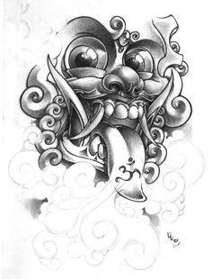 Risultati immagini per barong mask drawing Tattoo Sketches, Tattoo Drawings, Body Art Tattoos, New Tattoos, Sleeve Tattoos, Tattoos For Guys, Balinese Tattoo, Foo Dog Tattoo, Hanya Tattoo