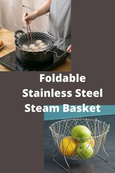 Our chef basket is a perfect choice for washing small amounts of vegetables, herbs and fruits. It can be used to cook, steam, fry, rinse and drain. It allows easier food preparation, less instances of burns from hot pots. Step out of the usual recipes and enjoy the multi-functional aspect of your cooking with our steamer chef basket.#foldable chef basket#Foldable Stainless Steel Steam Basket#foldable chef basket magic#foldable fry basket#easy stenless cooking basket#chef basket Kitchenware Set, Mandolin Slicer, Stainless Steel Mesh, Hot Pot, Steamer, Food Preparation, Kitchen Dining, Burns, Pots