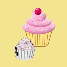 Pingente de cupcake da Pandora (R$ 195)