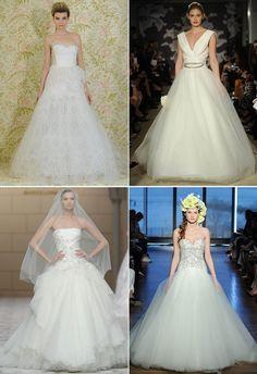 5 Angel Sanchez Carolina Herrera Ines Di Santo Pronovias Hochzeitskleider lang Ballkleider Hochzeit 2015: Brautkleider Trends vorhersagen