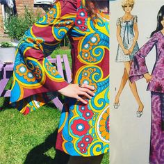 """BongosFreakout on Instagram: """"Now reserved - #60sclothes #70sclothes #mod #psychedelic #1960s #1970s #handmade #vintageclothing #1960sfashion #1970sfashion #sewyourown…"""" 1960s Fashion, Make Time, Psychedelic, 1970s, Stitching, Vintage Outfits, Cool Stuff, Handmade, Clothes"""