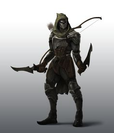 Ranger by JoshEiten swords daggers archer fighter armor clothes clothing fashion player character npc | Create your own roleplaying game material w/ RPG Bard: www.rpgbard.com | Writing inspiration for Dungeons and Dragons DND D&D Pathfinder PFRPG Warhammer 40k Star Wars Shadowrun Call of Cthulhu Lord of the Rings LoTR + d20 fantasy science fiction scifi horror design | Not Trusty Sword art: click artwork for source