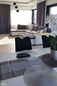 Dom w kameliach Home Design Floor Plans, House Design, Flooring, Living Room, Interior, Table, Furniture, Home Decor, Decoration Home