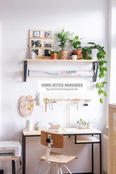 Arbeitszimmer einrichten: Ich zeige euch, wie ich meinen Arbeitsplatz zu Hause komplett umgestaltet habe | Makeover vorher nachher | mit vielen spannenden IKEA Hack Ideen und Möbel DIY Ideen | Home Office Ideen | Industrial Style | Holz | Möbel bauen