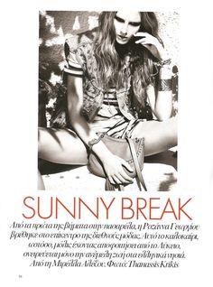 Sunny Break | Ros Georgiou | Thanasis Krikis #photography | Vogue Hellas July 2012
