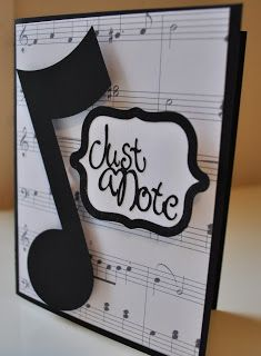 An Inspired Craftroom: Music Themed Card