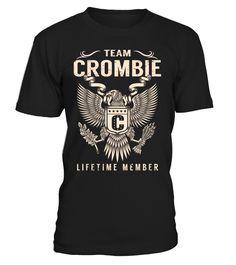 Team CROMBIE Lifetime Member Last Name T-Shirt #TeamCrombie