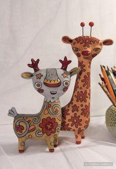 Авторские чудики из глины Светланы Соколовой / Изготовление игрушек своими руками / Бэйбики. Куклы фото. Одежда для кукол