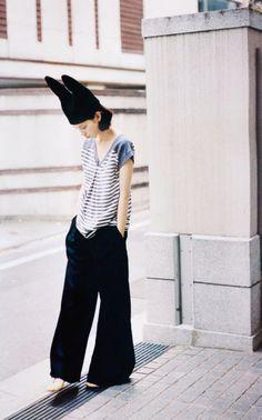 Bunny ear hat -- Kiko Mizuhara