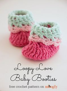 The Loopy Love Newborn Baby Booties were just too fun to make. And yes, right now they are only available in Newborn size, which is about 8 cm or 3 inches long. If you like them and want bigger sizes, please let me know! Since this my first pair of booties, I want to hear from you before I work on larger sizes.