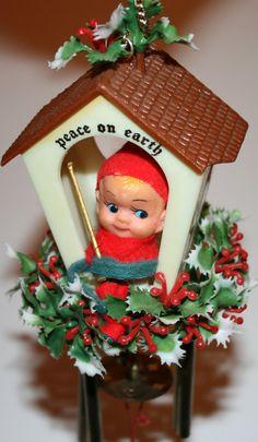 Vintage Christmas Pixie/Elf Windchime by RSWVintage on Etsy, $12.00