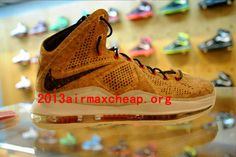 new style d057d 7659d Nike Lebron X Cork Shoes Classic Brown Classic Brown University Red