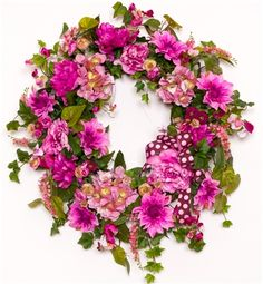 pictures of spring wreaths | Pretty in Pink Spring Wreath
