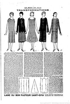 Vintage dress pattern - a good reminder that gores can be inserted and tops changed, no matter the style 20s Fashion, Fashion Mode, Art Deco Fashion, Fashion History, Retro Fashion, Vintage Fashion, 1920 Style, Vintage Sewing Patterns, Clothing Patterns