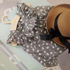 Arim Closet Grey Floral Dress - Greenberry Kids - 6