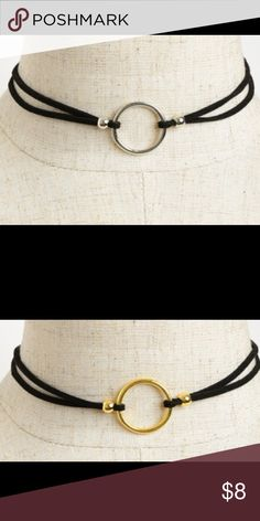 Ring Choker Velvet strap with silver or gold center ring chokers. Adjustable with lobster clasp Jewelry Necklaces
