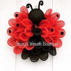Ladybug Wreath Spring Wreath Everyday Wreath Ladybug Decor   Etsy