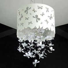 Homemade lamp shade.... Wow!