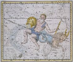 Aquarius and Capricorn, from 'A Celestial Atlas', pub. in 1822 (coloured engraving) by A. Jamieson (fl.1820)