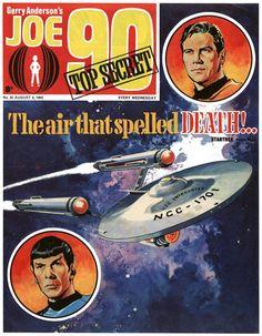 Joe 90 comic featuring Star Trek