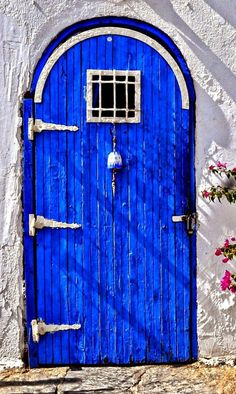 Blue door: Bodrum, Turkey.