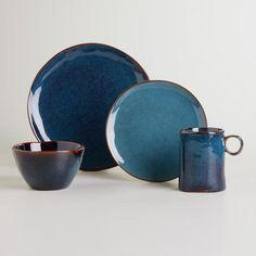 at WorldMarket.com: Organic Reactive Indigo Collection. Would go great with my Sheridan Ray original bowls!