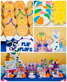 Olaf Themed Summer Birthday Party