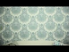 farrow and ball - large pattern next to door  Pattern is gorgeous.  ▶ How to Hang Wallpaper - YouTube