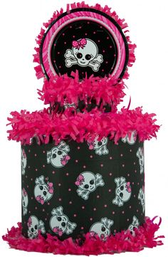 World of Pinatas - Pink and Black Skull Pinata, $27.99 (http://www.worldofpinatas.com/pink-and-black-skull-pinata/)