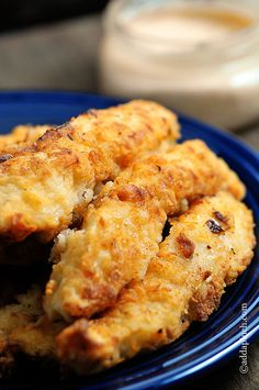 Chicken Strips Recipe | ©addapinch.com