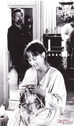 "On the set of ""The Bridges of Madison County"""