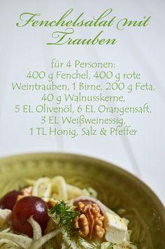 Rezept für Fenchelsalat mit Trauben (www.rheintopf.com) #rezept #recipe