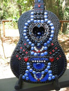 Mosaic Guitar for Barberville Frolic Silent Auction   Flickr - Photo Sharing!