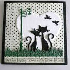 Marianne-Design-Die-Cutting-Emboss-Stencil-Stamp-TWO-FRENCH-CATS-COL1344 Plus