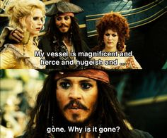 Capt. Jack Sparrow.  i freaking love him.