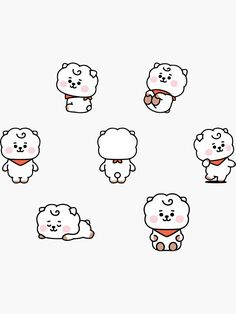 Buy Baby RJ Set' by as a Sticker, Transparent Sticker, or Glossy Sticker Pop Stickers, Face Stickers, Printable Stickers, Bts Home Party, Bts Dispatch, Kpop Diy, Bts Aesthetic Pictures, Kpop Drawings, Doodle Art Journals