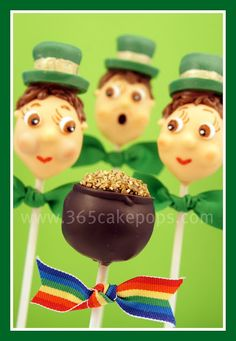 Check out these St. Paddy's Day Cakepops! How cute are they!!