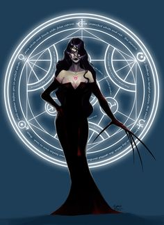 Lust and her Circle by cyanineblu.deviantart.com on @DeviantArt