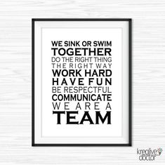 Office Wall Art Printable Teamwork Quotes Office Success | Etsy Team Quotes Teamwork, Leadership Quotes, Success Quotes, Work Motivational Quotes, Positive Quotes, Inspirational Quotes, Motivation Quotes, Teamwork Motivation, Workplace Motivation