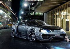 Обои с прытким исполнительным безотлагательным автомобилем Toyota Supra