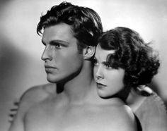 Buster Crabbe and Frances Dee, publicity shot for King of the Jungle (1933)