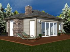 Compact Design with Full Sized Amenities - 709 sq. ft. - House Plan No.580709 House Plans by WestHomePlanners.com
