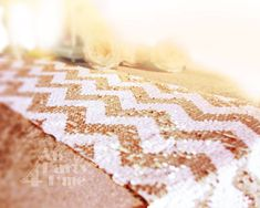 Sequin Table Runner, Sparkly Chevron White & Rose Gold Sequin Runner for Party Event Reception Dining Table Decoration Gift Idea Winter Wedding Ceremonies, Wedding Ceremony Decorations, Wedding Ideas, Diy Wedding, Sequin Wedding, Glitter Wedding, Wedding Pins, Dream Wedding, Wedding Inspiration