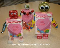 Making Memories ... One Fun Thing After Another: Candy Robot Valentines-great Valentine's craft idea....