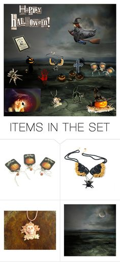 """""""Scary Night"""" by arlenesboutique ❤ liked on Polyvore featuring art"""