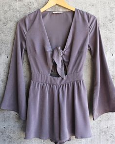 a love like this romper - grey