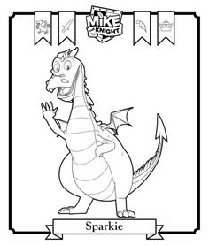 coloring page Mike the Knight - Sparkie
