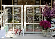 wedding table assignments - Google Search